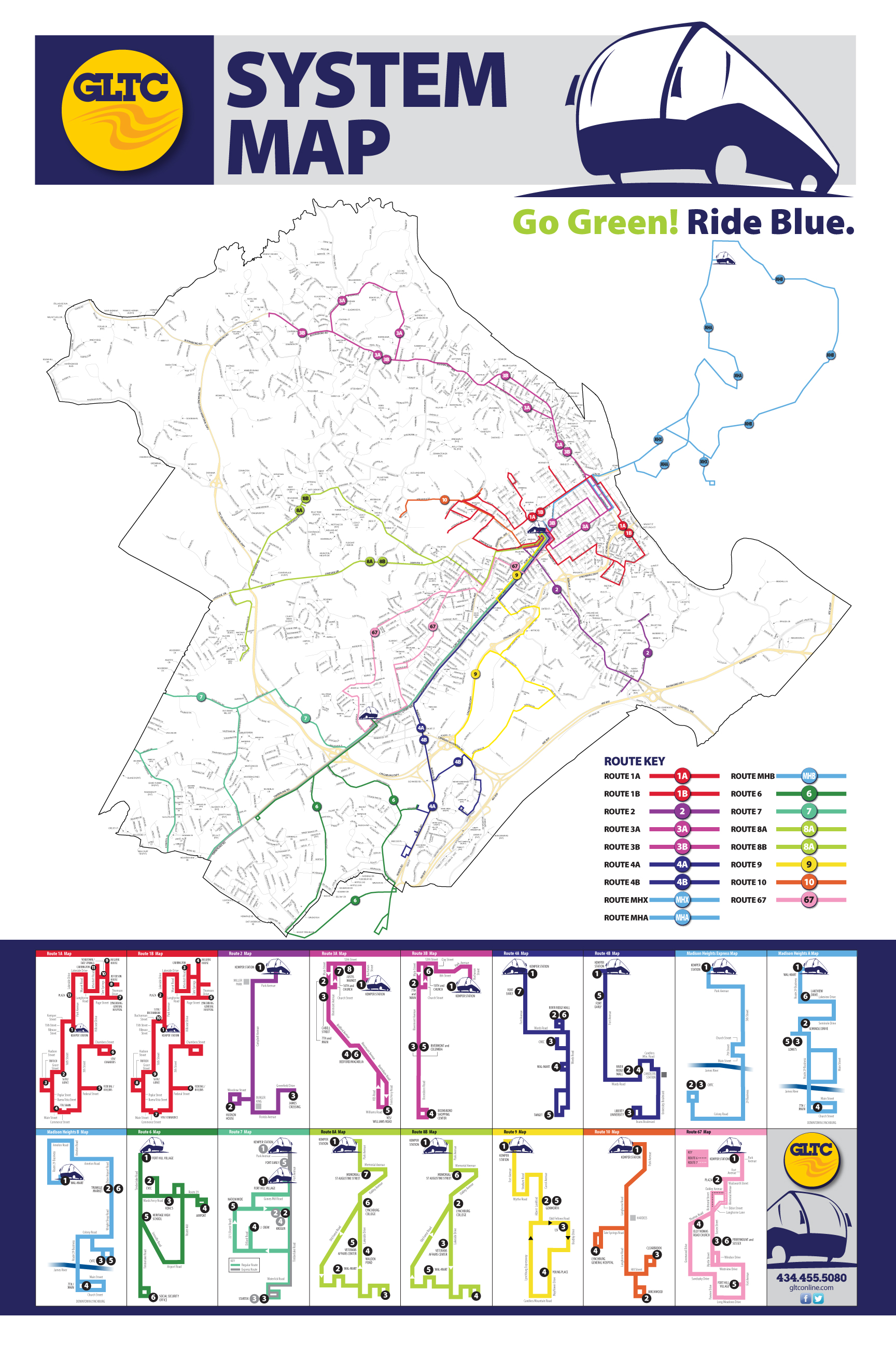 System Map Greater Lynchburg Transit Company