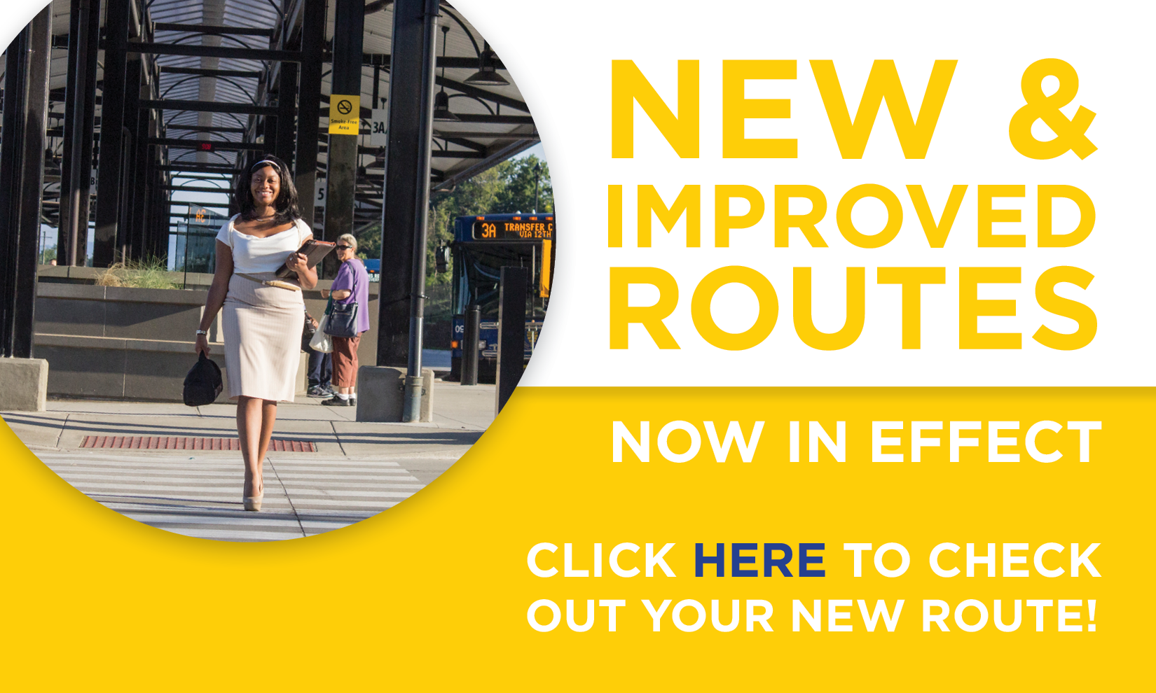 Click here to check out your new route